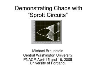 Demonstrating Chaos with  Sprott Circuits