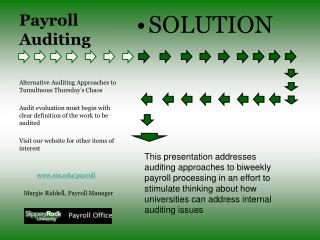 Payroll Auditing