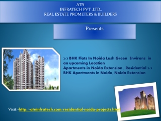 2  And 3 BHK Flats In Noida at affordable price