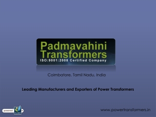 Power Transformer Manufacturer & Supplier