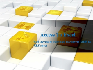 Access 2 Excel Easily Convert MDB to Excel