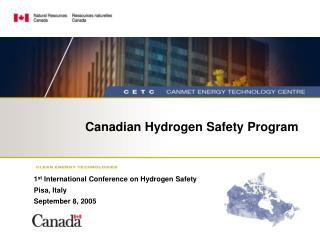 Canadian Hydrogen Safety Program