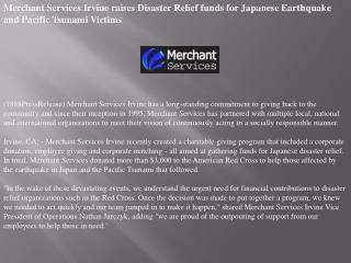 merchant services irvine raises disaster relief funds for ja
