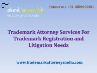 Trademark Attorney Services For Trademark Registration