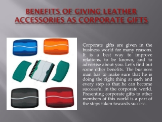 Benefits of Giving Leather Accessories as Corporate Gifts