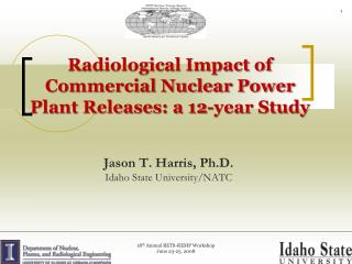 Radiological Impact of Commercial Nuclear Power Plant Releases: a 12-year Study