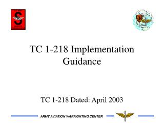 TC 1-218 Implementation Guidance