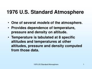 1976 U.S. Standard Atmosphere