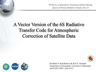 A Vector Version of the 6S Radiative Transfer Code for Atmospheric ...