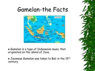 Gamelan-the Facts