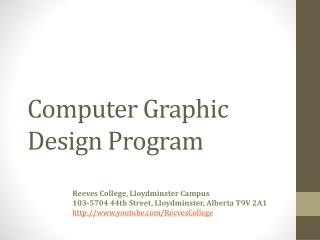 Computer Graphic Design Program in Lloydminster AB