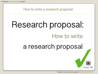 Essay Examples | How To Write A Research Proposal