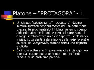Platone    PROTAGORA  - 1