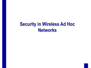 Security in Wireless Ad Hoc Networks