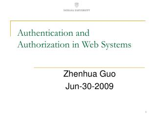 Authentication and Authorization in Web Systems