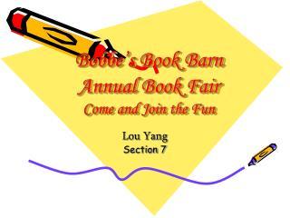 Bobbe s Book Barn Annual Book Fair Come and Join the Fun