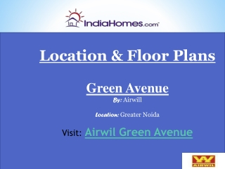 Airwil Green Avenue Greater Noida