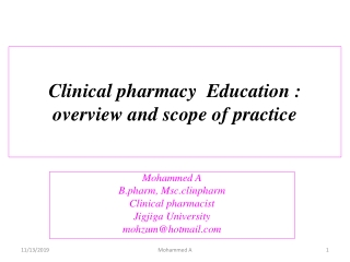 Clinical pharmacy overview: Ethiopia