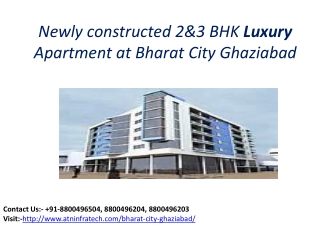 Newly constructed Apartment at Bharat City