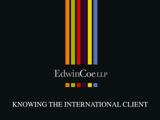 knowing the international client