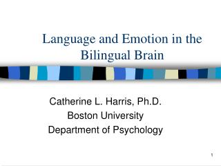Language and Emotion in the Bilingual Brain