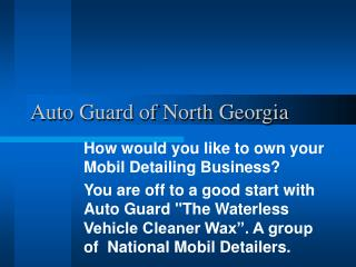 Auto Guard of North Georgia