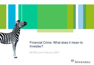financial crime: what does it mean to investec