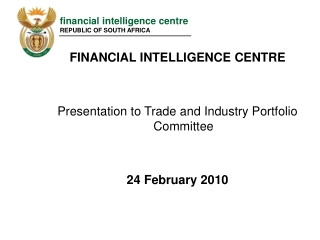 financial intelligence centre republic of south africa