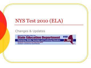 NYS Test 2010 ELA