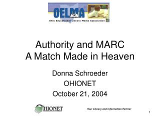 Authority and MARC A Match Made in Heaven
