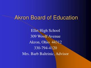 Akron Board of Education