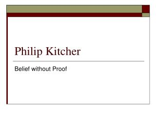 Philip Kitcher