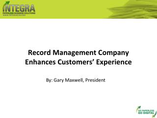 record management company enhances customers' experience