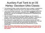 Auxiliary Fuel Tank to an 05 Harley- Davidson Ultra Classic