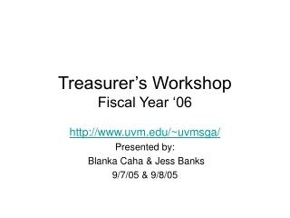 Using the Credit Balance Workshop 9