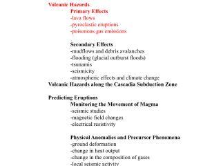 Volcanic Hazards 2
