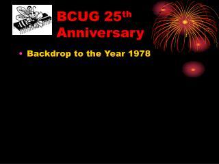 bcug 25th anniversary