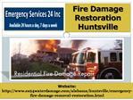 Fire Damage Restoration Huntsville