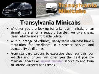 Cheap Heathrow Minicabs