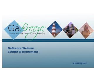 GaBreeze Webinar COBRA  Retirement