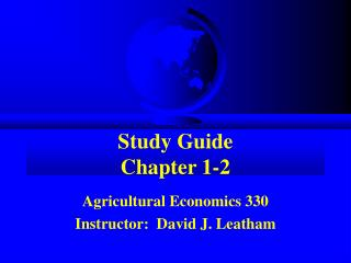 Study Guide Chapter 1-2