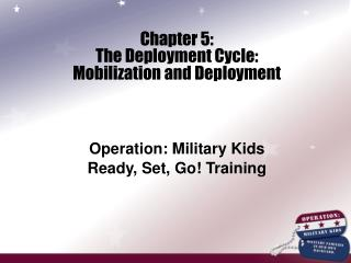 Chapter 5: The Deployment Cycle: Mobilization and Deployment  Operation: Military Kids Ready, Set, Go Training
