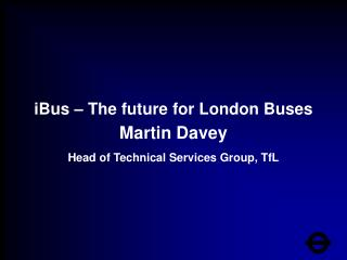IBus   The future for London Buses
