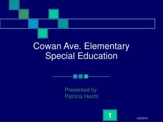 Cowan Ave. Elementary Special Education