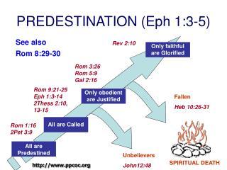 PREDESTINATION Eph 1:3-5