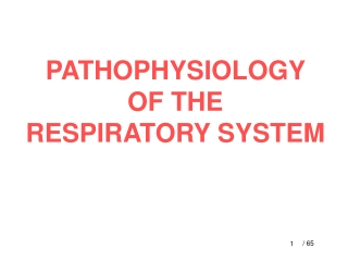 Patho-Physiology of Respiratory Failure.