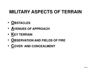 MILITARY ASPECTS OF TERRAIN