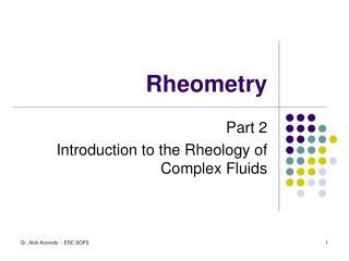 Rheometry