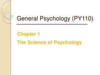 General Psychology PY110
