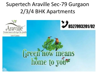 Supertech Araville Gurgaon @8527993202